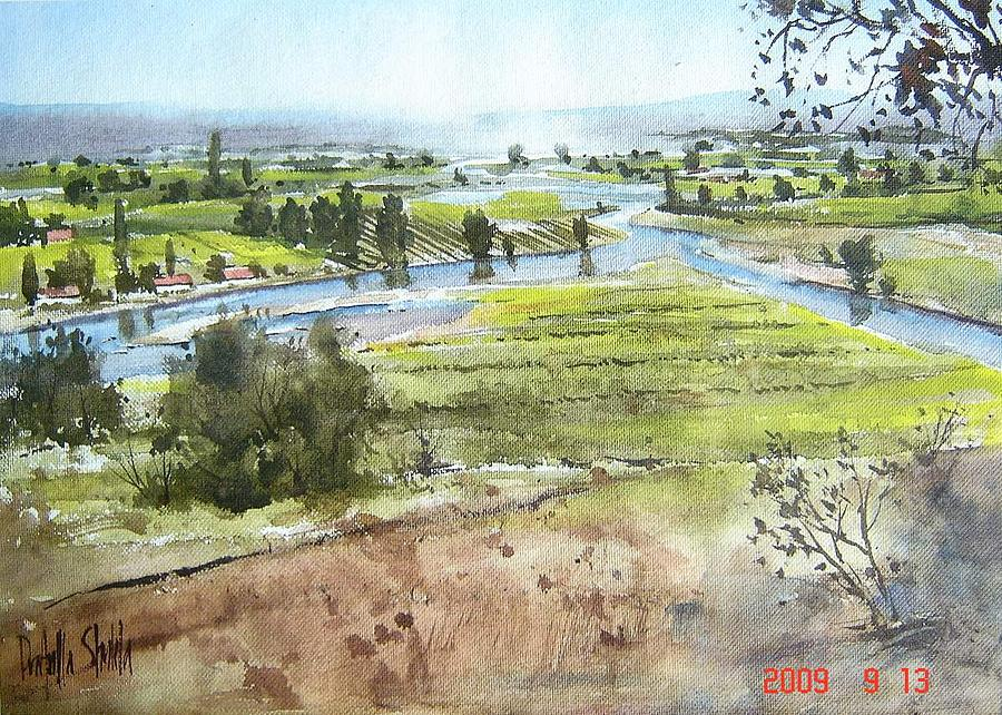 Watercolor Painting - How Green Was My Valley by Prafulla B Shukla