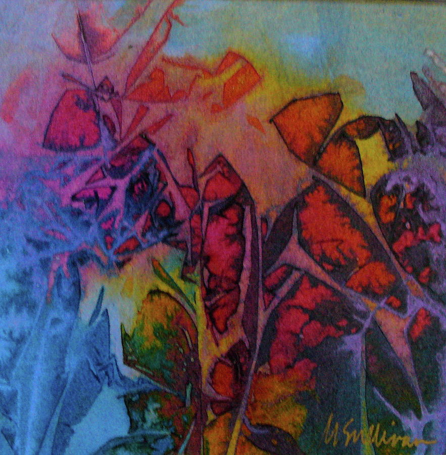 Lyrical Abstraction Painting - How Her Garden Grows by Mary Sullivan