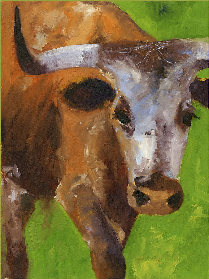 How is that sports fans Texas Longhorn oil painting by KMcElwaine by Kathleen McElwaine