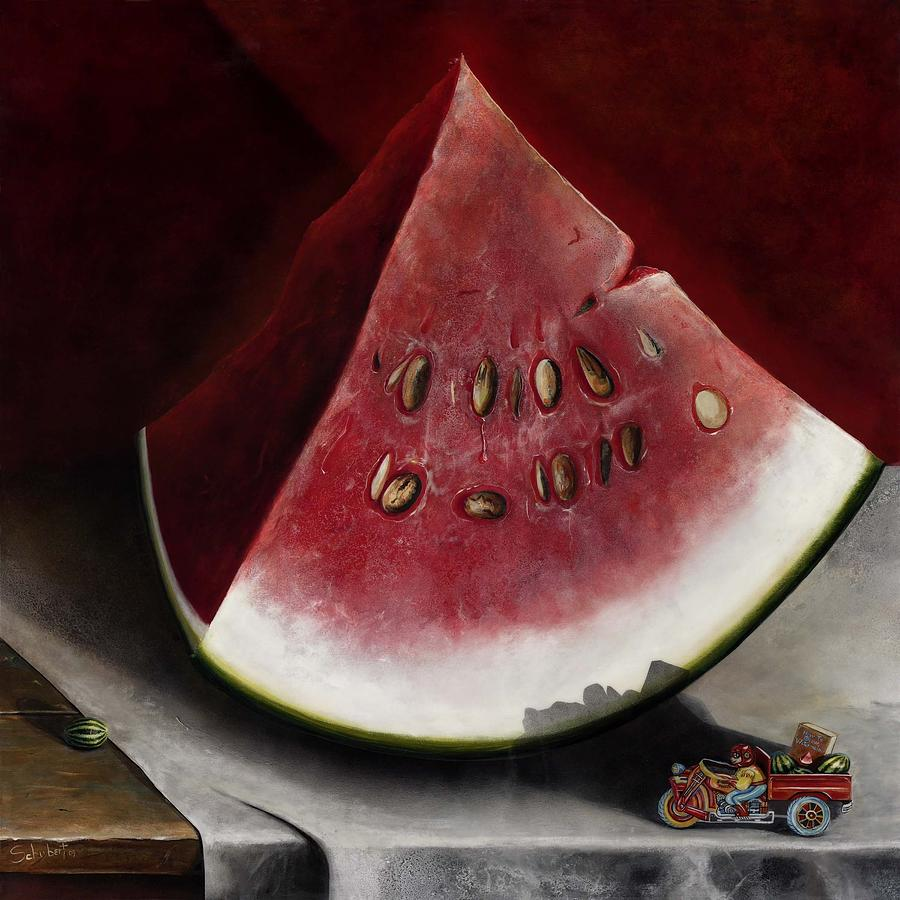 How To Grow Watermelon Painting by Stephen Schubert