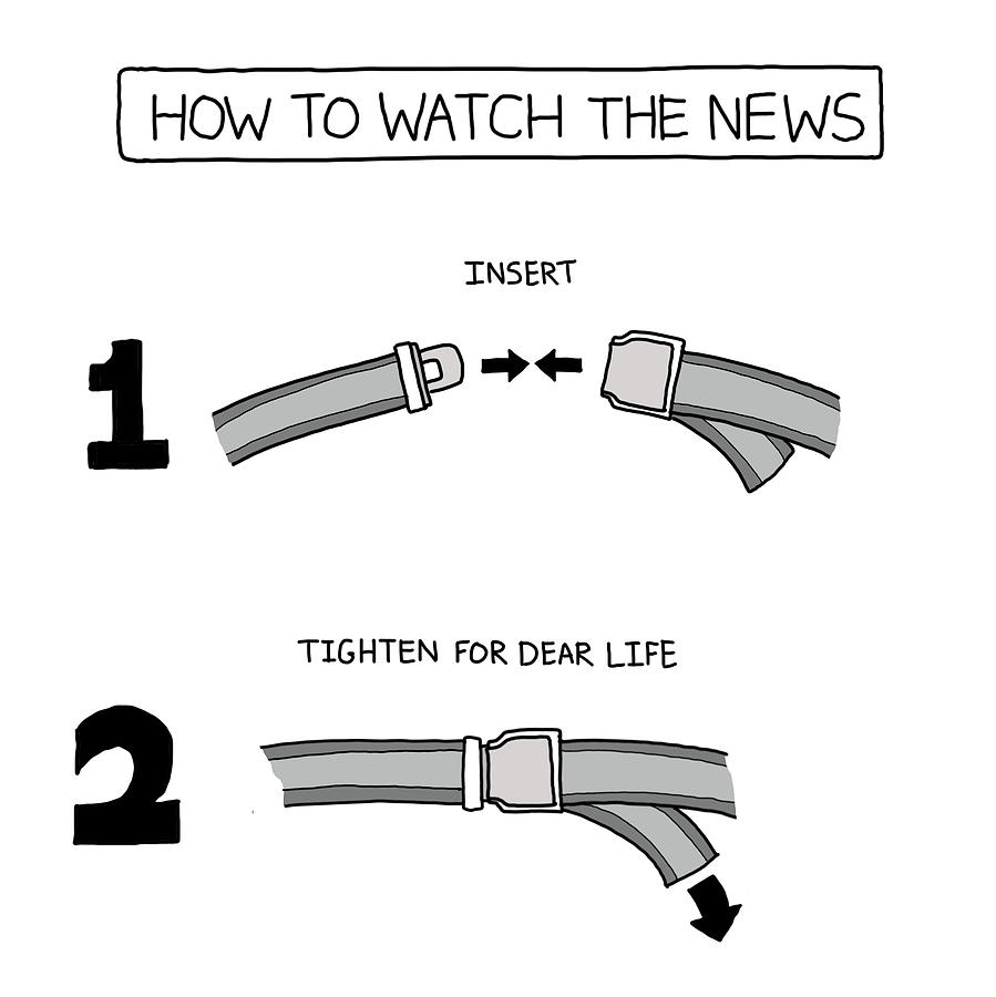 How To Watch The News Photograph by Avi Steinberg