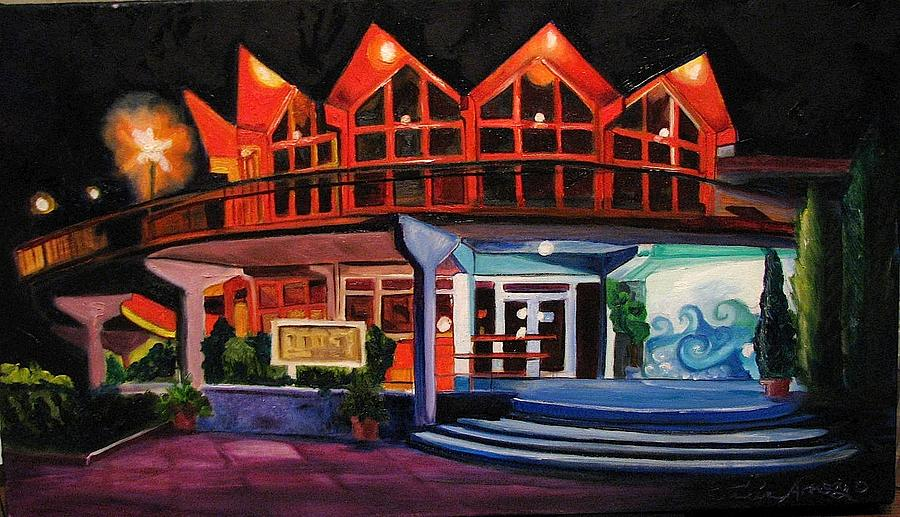 Memorabilia Painting - Howard Johnsons at Night by Patricia Arroyo