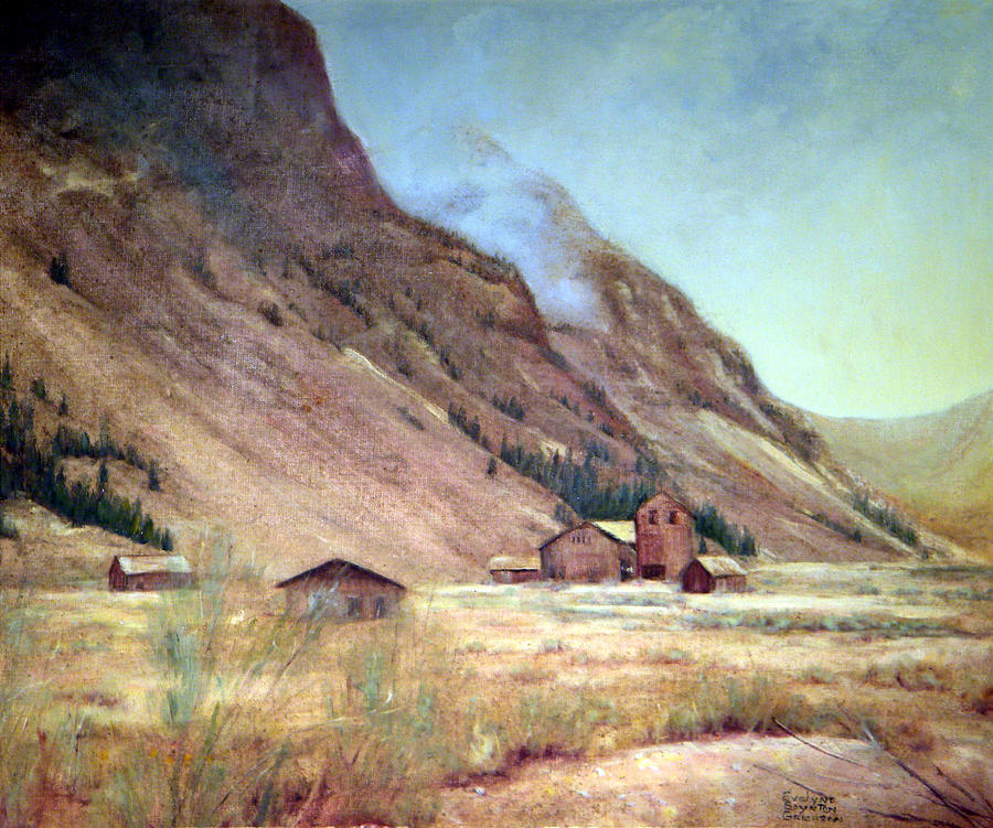 West Painting - Howardsville Colorado by Evelyne Boynton Grierson