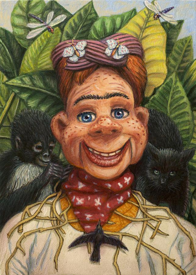 Howdy Doody Painting - Howdy Frida Doody by James W Johnson