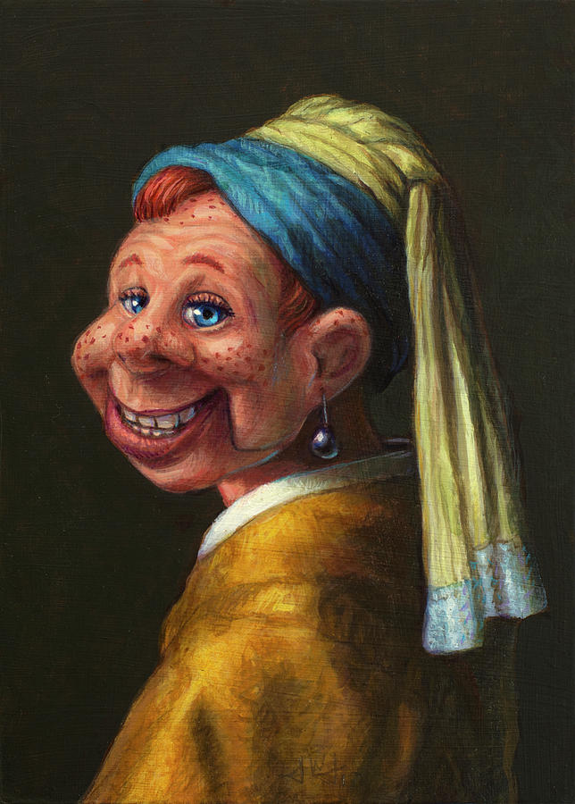 Howdy Doody Painting - Howdy With A Pearl Earring by James W Johnson