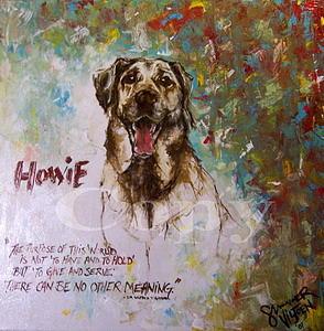 Dog Painting - Howie by Summer Viljoen
