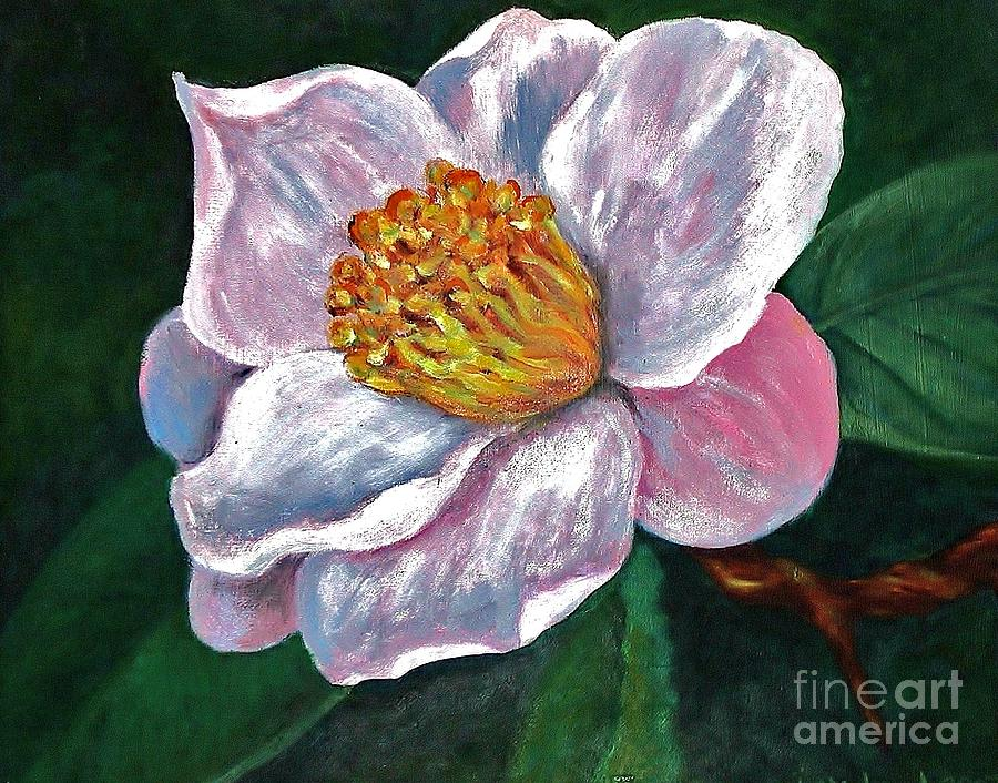 Flower Painting - Hoyt Flower Oil 2 by Emily Michaud