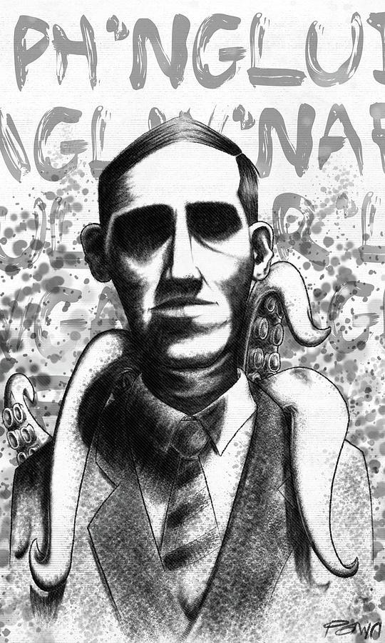 H p  Lovecraft by Curtis Bisbee