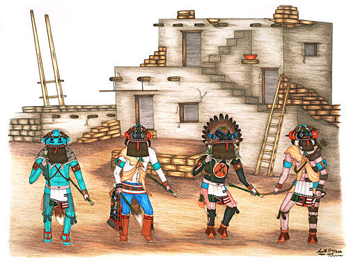 Hu Kachinas Mixed Media by Lavelle Mahle