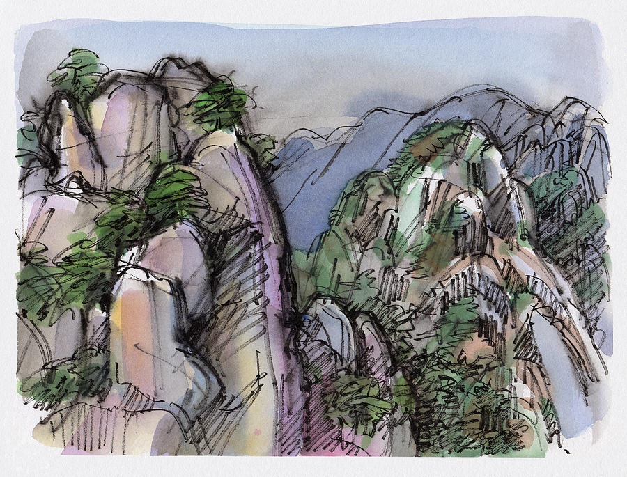 Landscape Painting - Huangshan, China by Judith Kunzle