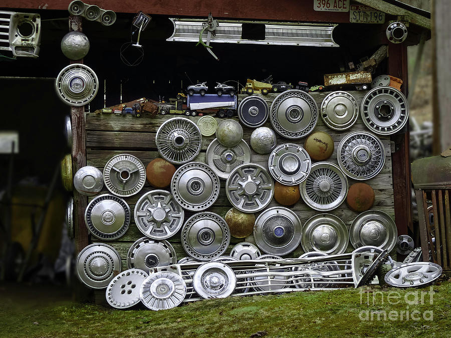 Hubcap Heaven Photograph By Teresa A And Preston S Cole