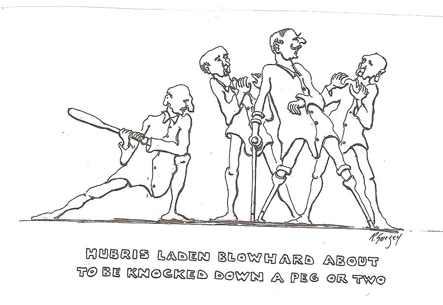 Hubris Drawing by Roger Swezey