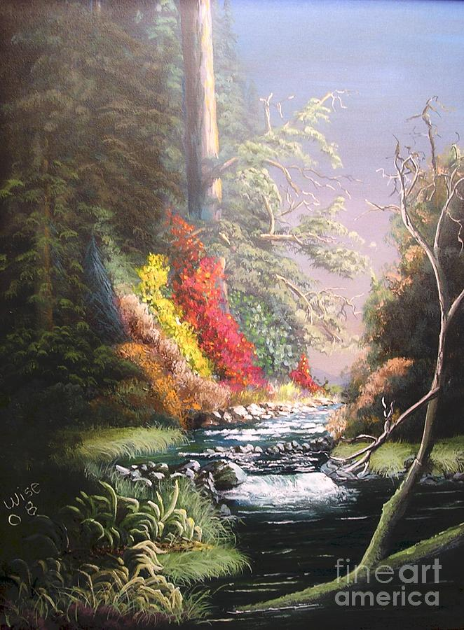 Landscape Painting - Huckleberry Creek by John Wise