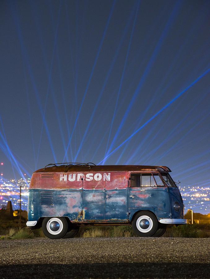 hudson barndoor vw bus  laser lights photograph  richard kimbrough