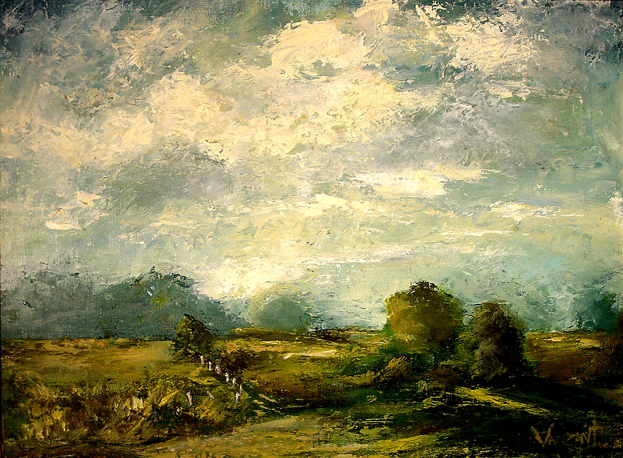 Pasture Painting - Hudson River Valley Pasture by Monica Vanzant