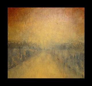Abstract Painting - Hudson by Vanessa Grant
