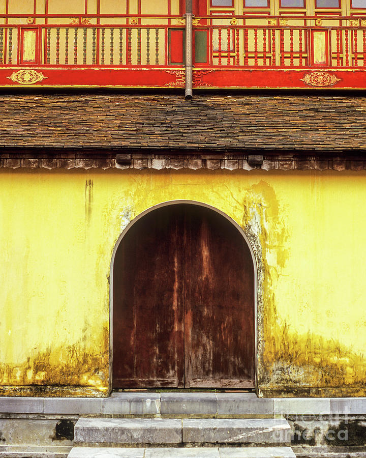 Hue Imperial Citadel Arched Door 01 by Rick Piper Photography