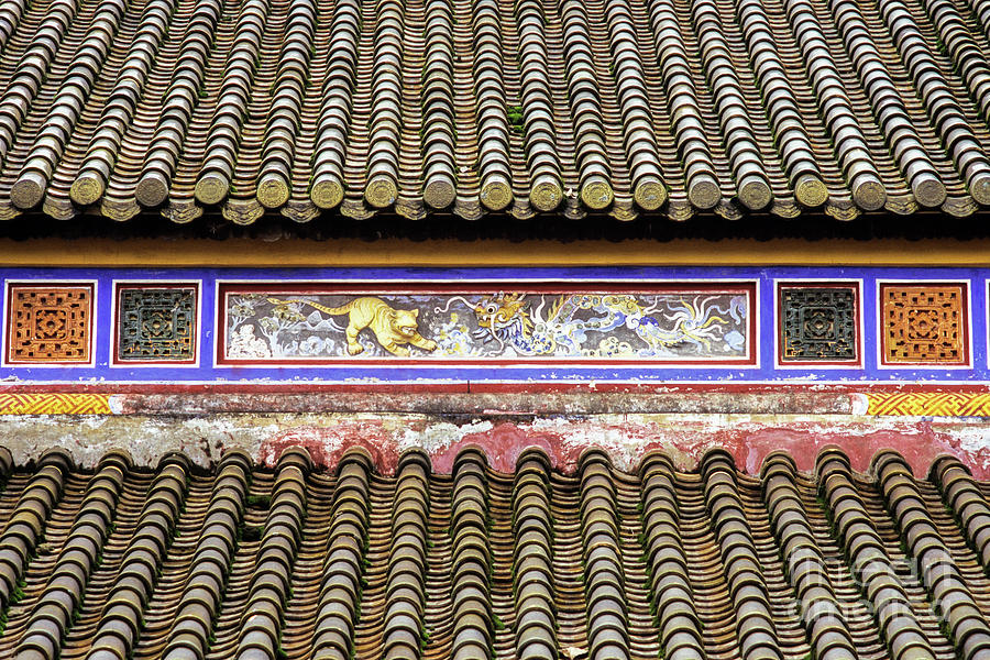 Hue Thai Hoa Palace Roof by Rick Piper Photography