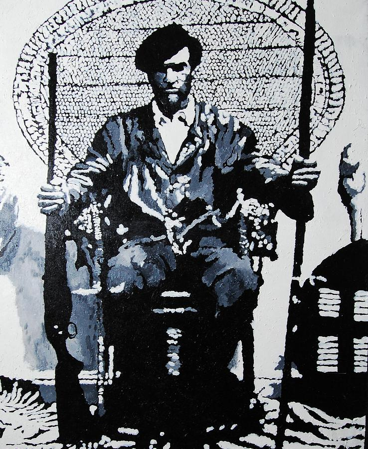 Black Panther Painting - Huey Newton Minister of Defense Black Panther Party by Lauren Luna
