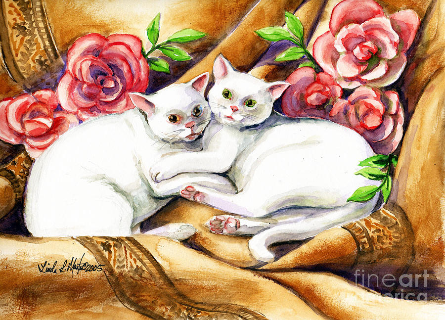 Hugging Cats by Linda L Martin