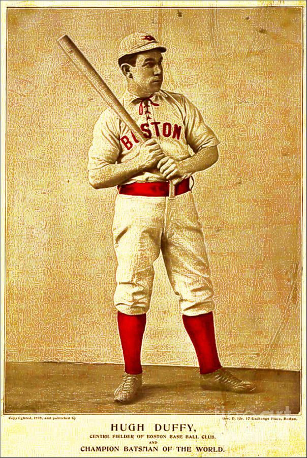 Hugh Duffy Photograph - Hugh Duffy Boston Red Sox 1895 by Audreen Gieger