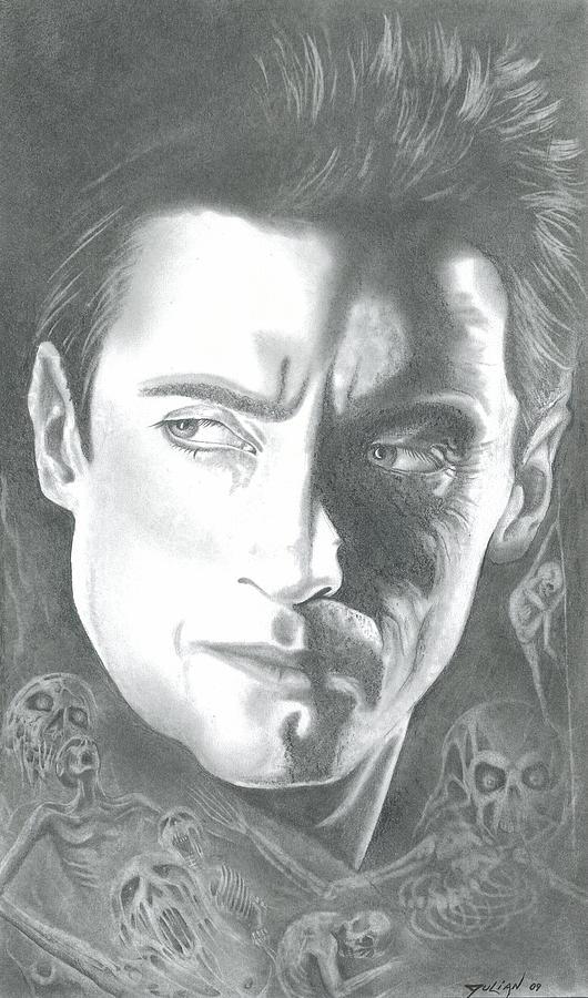 Portraits Drawing - Hugh Jackman by Julian  B