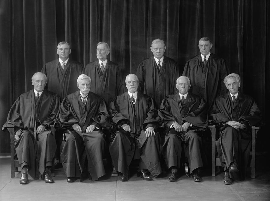 History Photograph - Hughes Court. United States Supreme by Everett