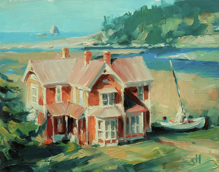 Coast Painting - Hughes House by Steve Henderson