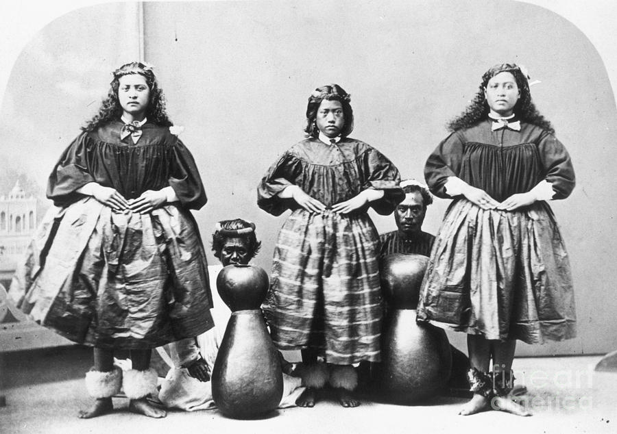1875 Photograph - Hula Dancers, C1875 by Granger