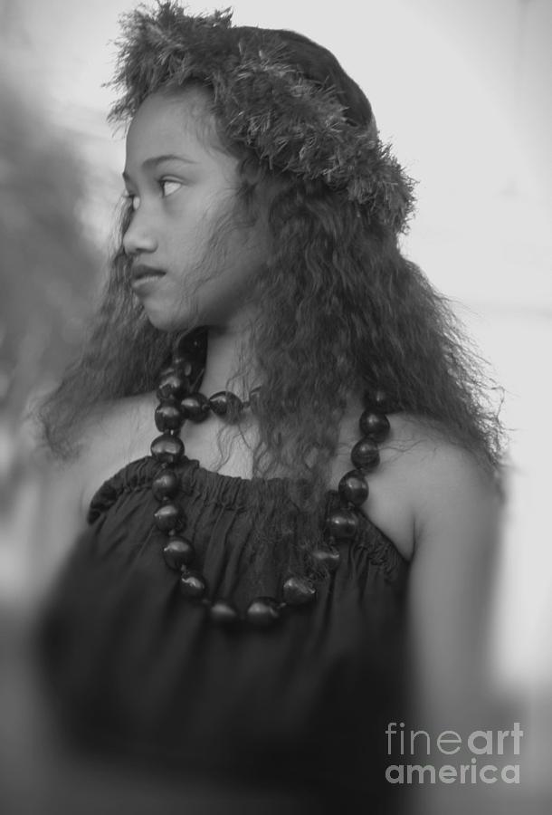 Hula Photograph - Hula Girl by Uldra Johnson