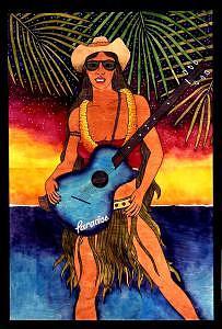 Hula Rocker Print by Kealoha  Pa