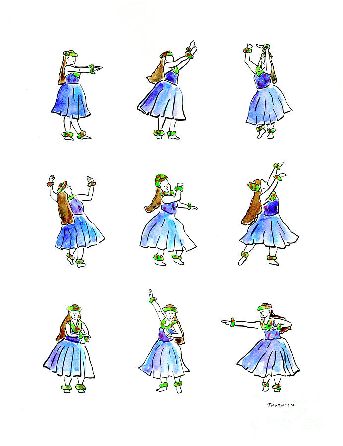 Hula x 9 by Diane Thornton