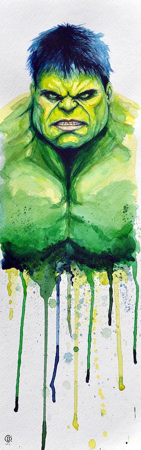 Hulk Painting - Hulk by David Kraig
