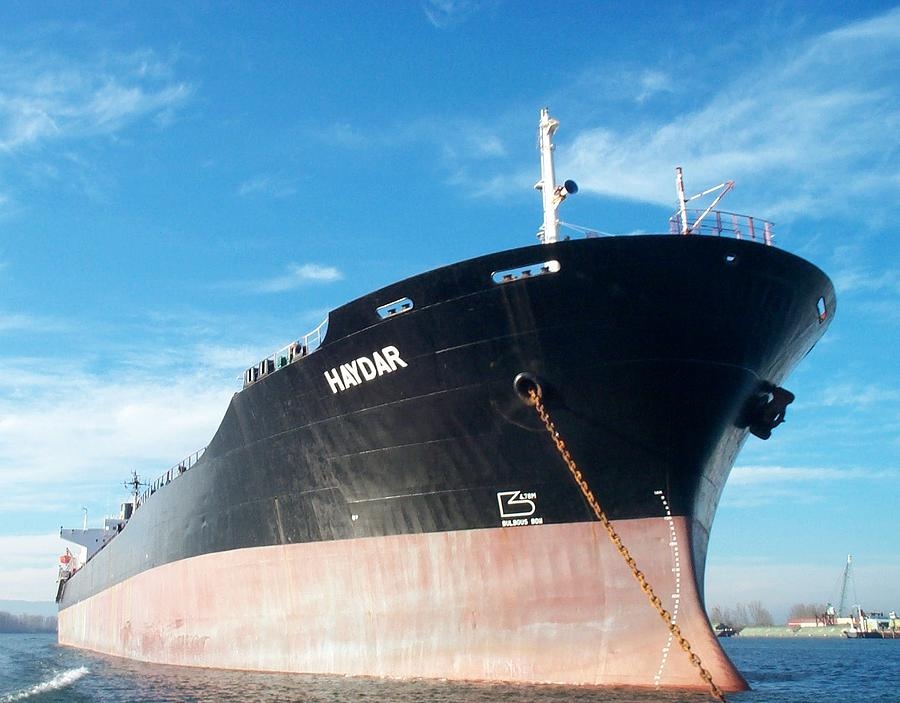 Hull Photograph - Hull Of Vessel Haydar At Anchor by Alan Espasandin