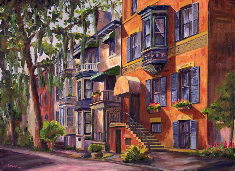 Savannah Painting - Hull Street In Chippewa Square Savannah by Jeff Pittman