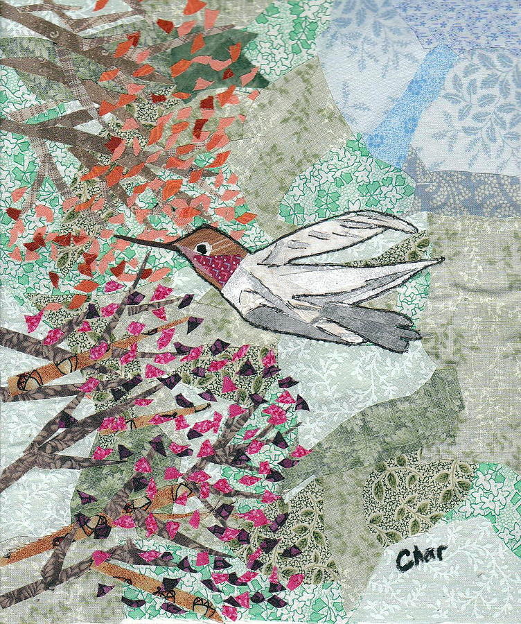 Bird Tapestry - Textile - Hum For Supper by Charlene White