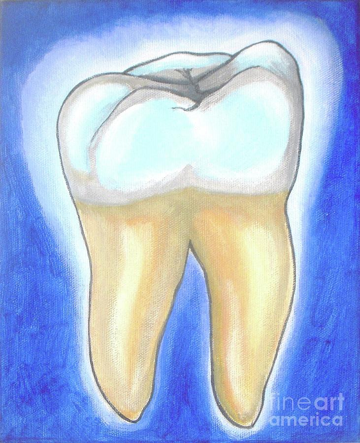 Molar Painting - Human Molar by Vesna Antic