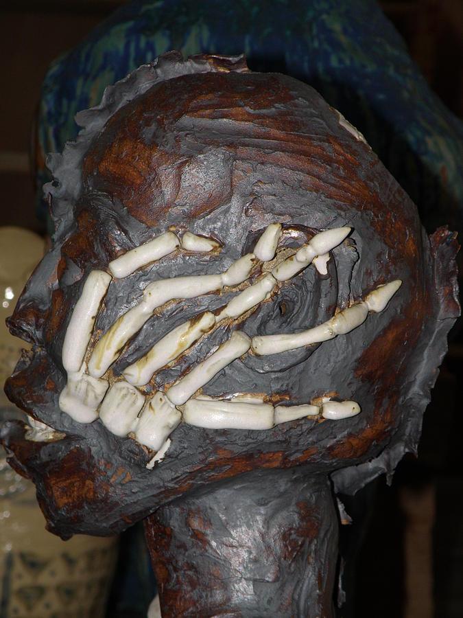 Bones Ceramic Art - Human Skeleton Close Up The Finger Bones by M Brandl