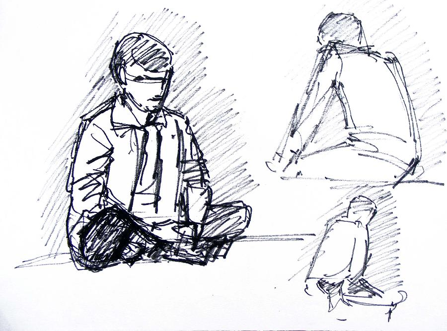 Human Study Drawing by Naveen Wagh