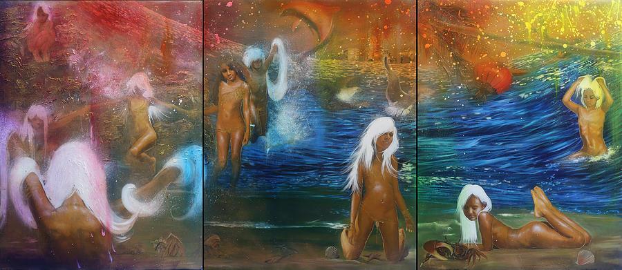 Ocean Painting - Humanity - Temptatio Sancti Antonii by Michael Andrew Law