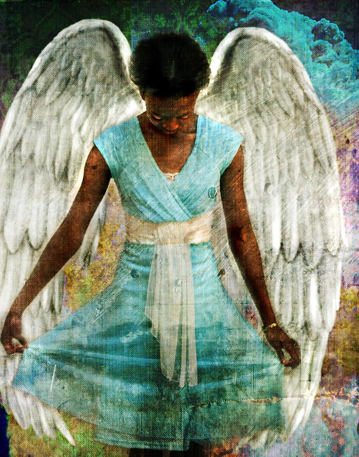 Angel Photograph - Humble Angel by Perennial Dreams Studios