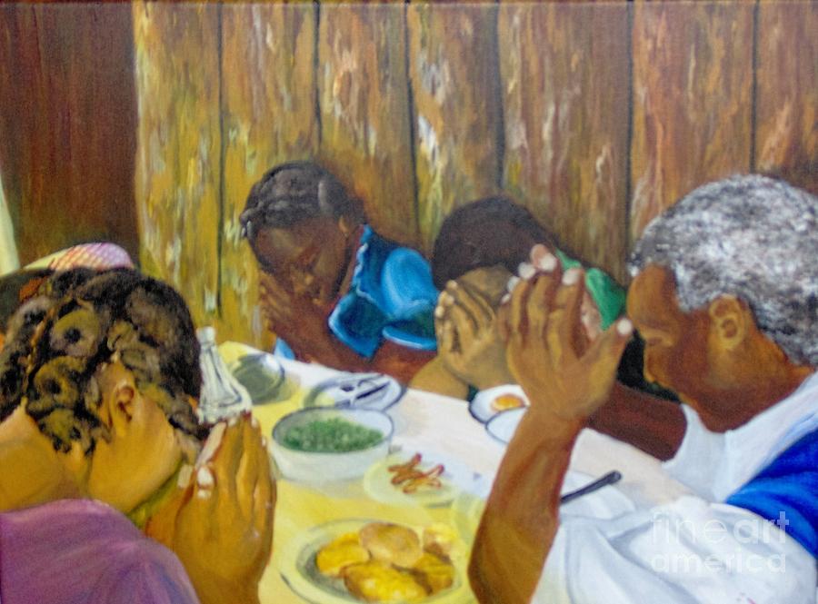 Prayer Painting - Humble Gratitude by Saundra Johnson