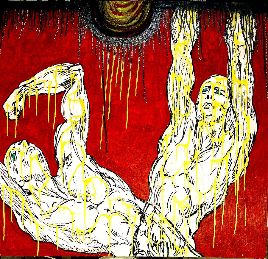 Humility Holds On Flesh Releases Painting by Jay Lonewolf