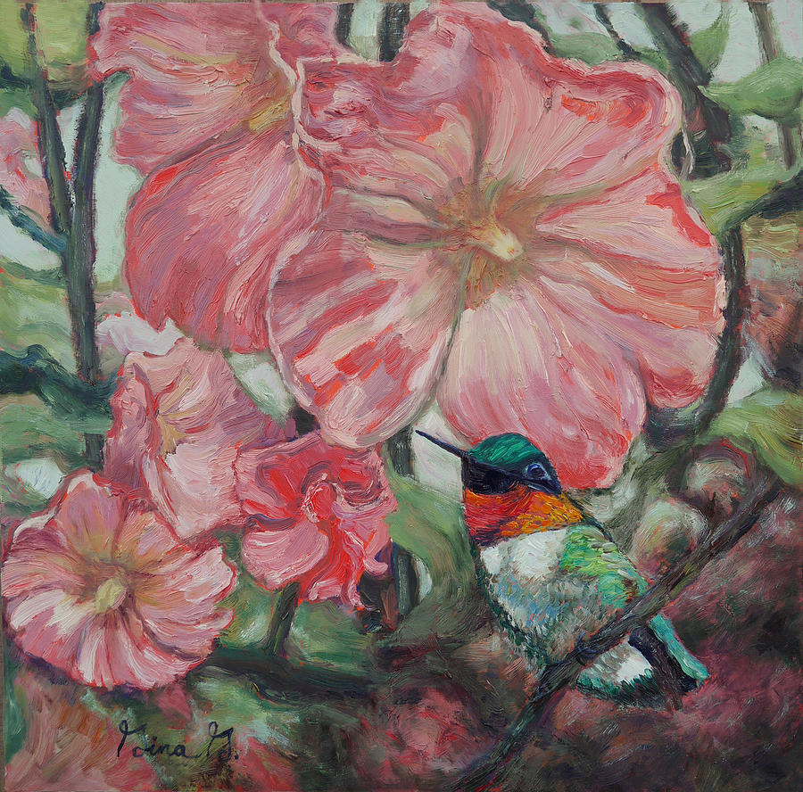 Hummer in Holly Land by Gina Grundemann