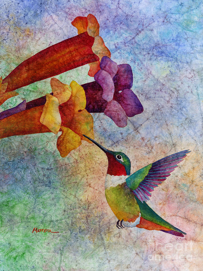 Hummingbird Painting - Hummer Time by Hailey E Herrera