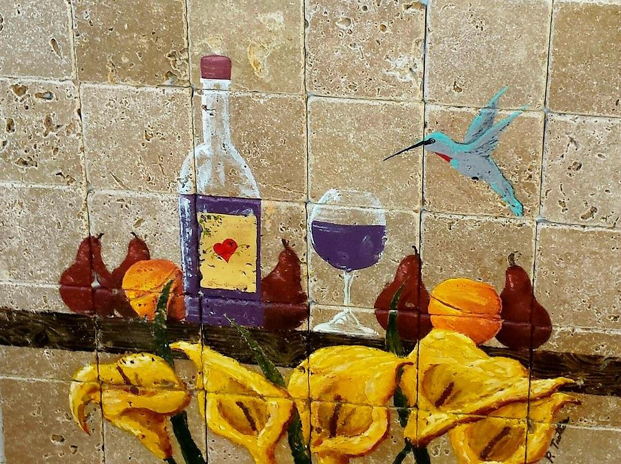 Wine Painting - Hummers Nectar by Patrick Trotter