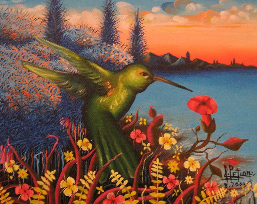 Humming Bird Mixed Media by Frantz Petion