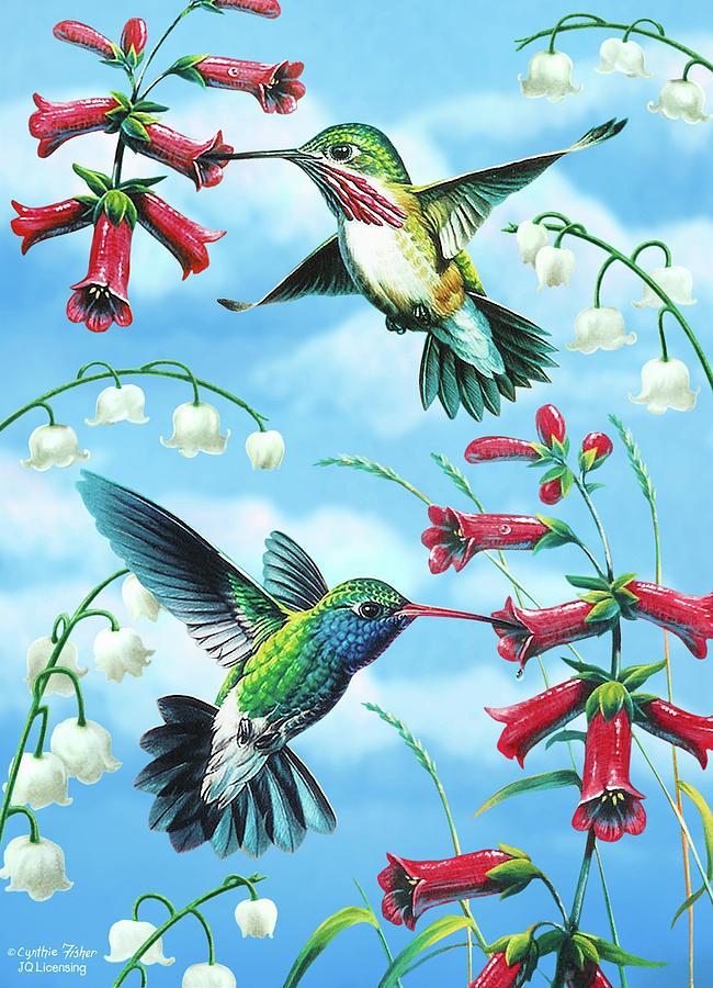 Hummingbird Painting - Humming Birds by JQ Licensing