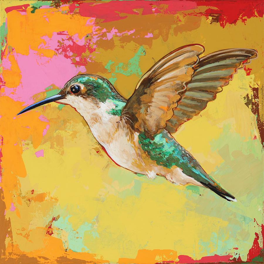 Hummingbird #19 Painting by David Palmer