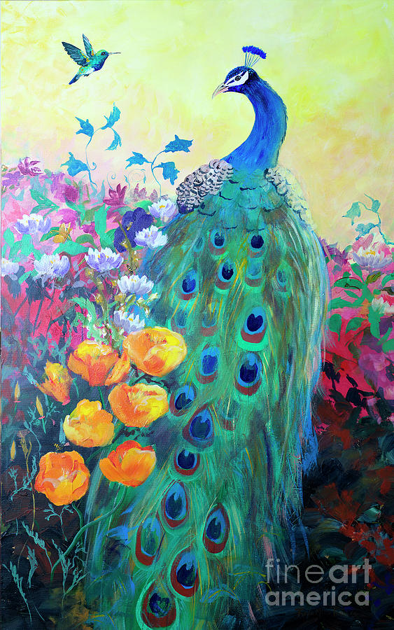 Hummingbird and Peacock by Robin Maria Pedrero